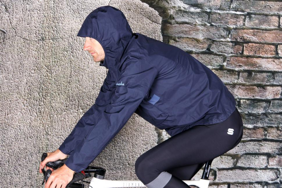 Rapha Explore Hooded Gore-Tex Pullover - riding.jpg