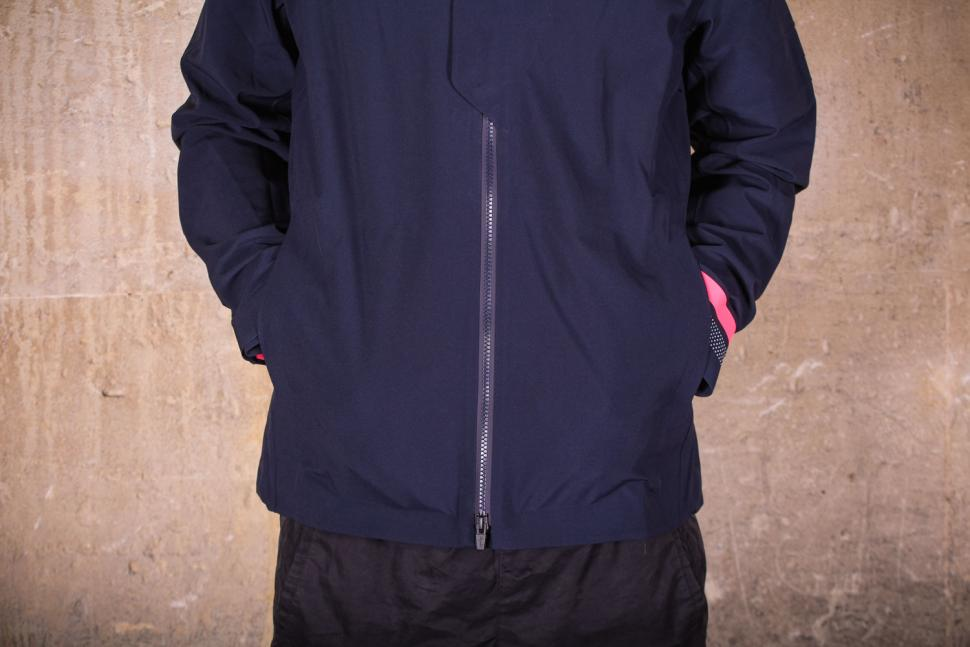 Rapha Hooded Rain Jacket II - zip and hem.jpg