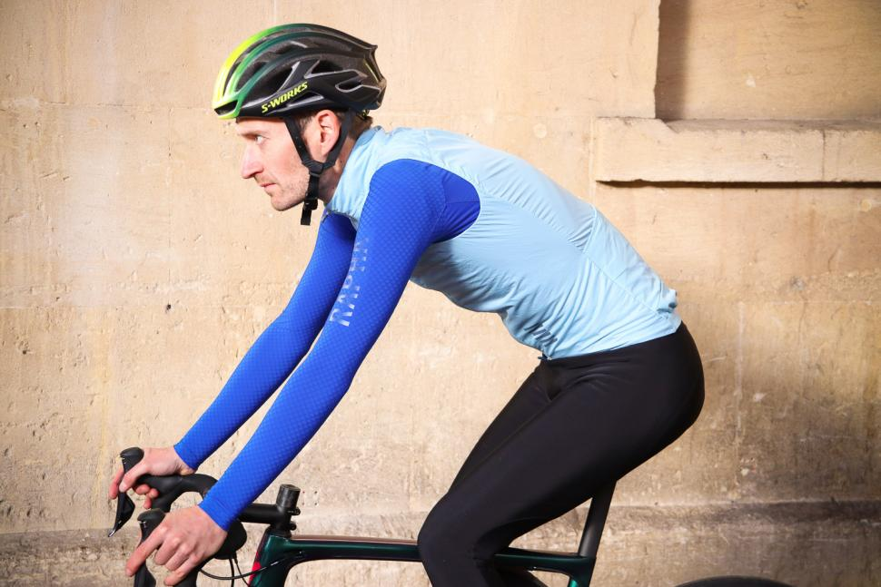 Rapha Pro Team Insulated Gilet - riding.jpg