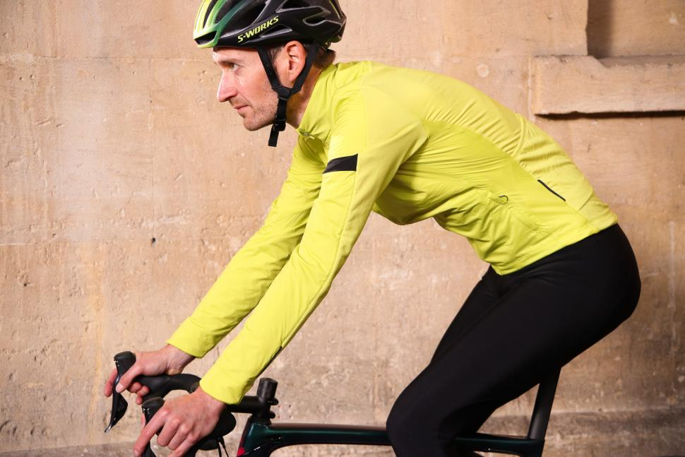 Rapha Winter Windblock Jersey - riding.jpg