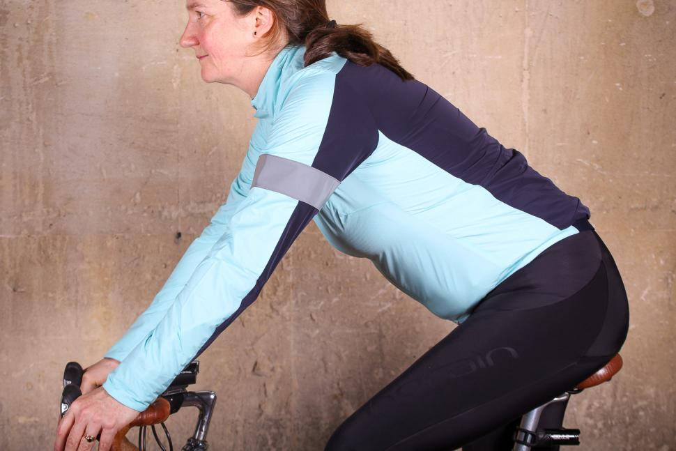 Rapha Souplesse Insulated Jacket - riding.jpg