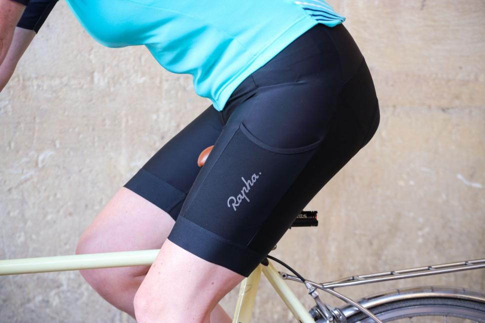 Rapha Womens Core Cargo Shorts - riding.jpg
