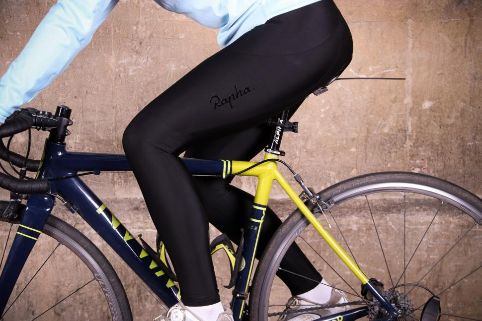 Rapha Women's Core Winter Tights With Pad - riding.jpg