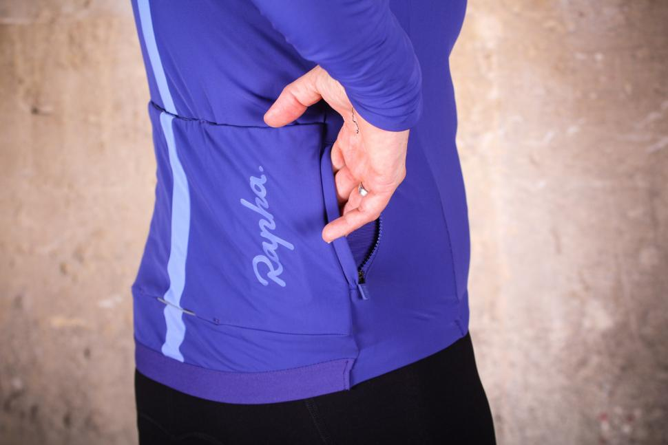 Rapha Women's Souplesse Thermal Jersey - zipped pocket.jpg