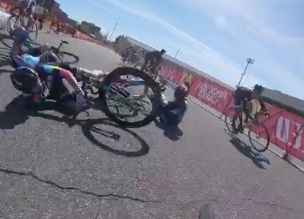 Red Hook Crit Qualidfiers crash video still - via Biketuhl on Instagram.JPG