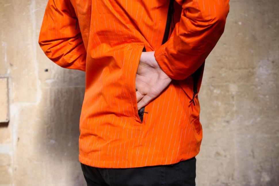 Resolute Bay Orange Reflective Commuter Jacket - back pocket.jpg
