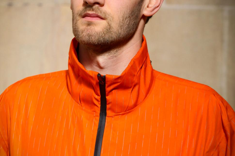 Resolute Bay Orange Reflective Commuter Jacket - collar.jpg