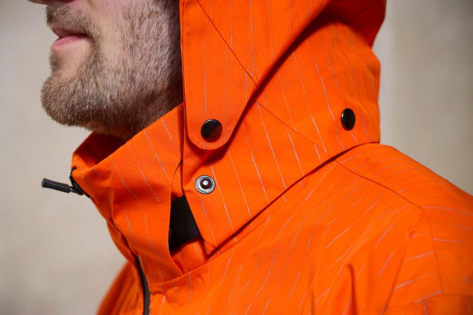 Resolute Bay Orange Reflective Commuter Jacket - hood detail.jpg