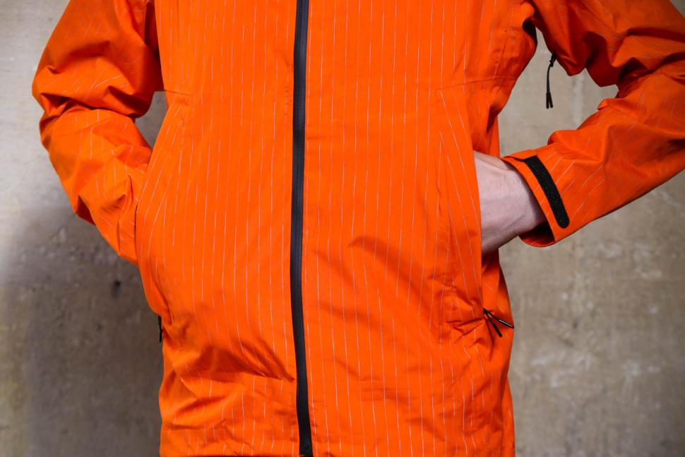 Resolute Bay Orange Reflective Commuter Jacket - pockets.jpg