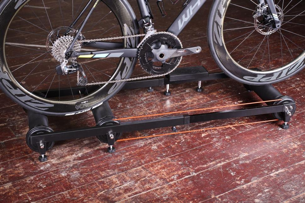 Riva Sport Adjustable Bicycle Roller Trainers - with bike.jpg