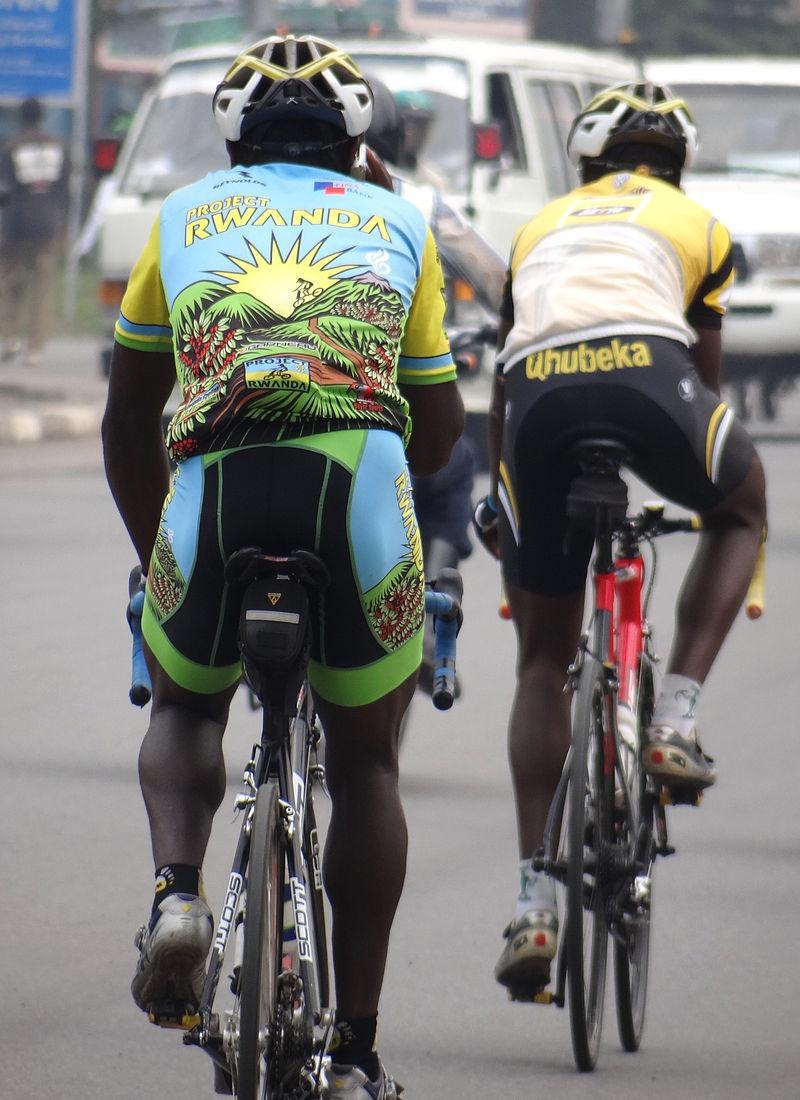 Rwanda, project Rwanda Cyclists_on_Street_-_Musanze_Ruhengeri_-_Northern_Rwanda