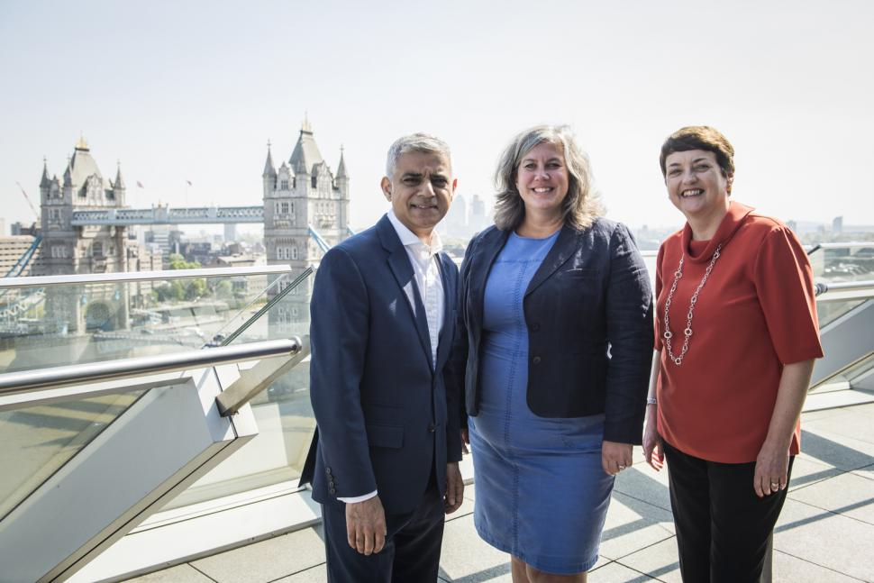 Sadiq Khan, Heidi Alexander and Val Shawcoross.jpg
