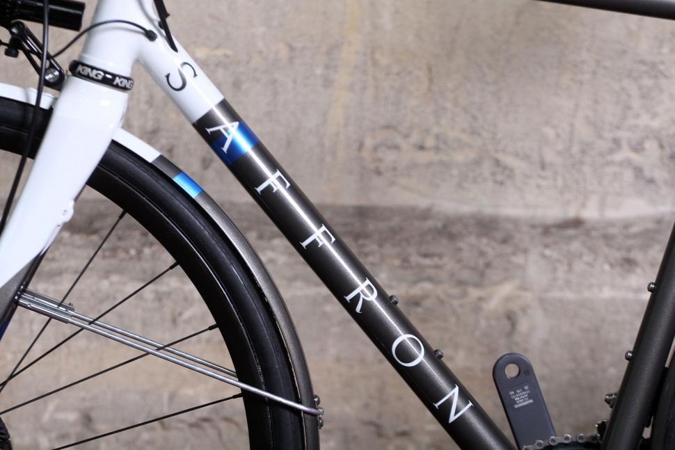 Saffron Frameworks custom winter bike - down tube detail.jpg