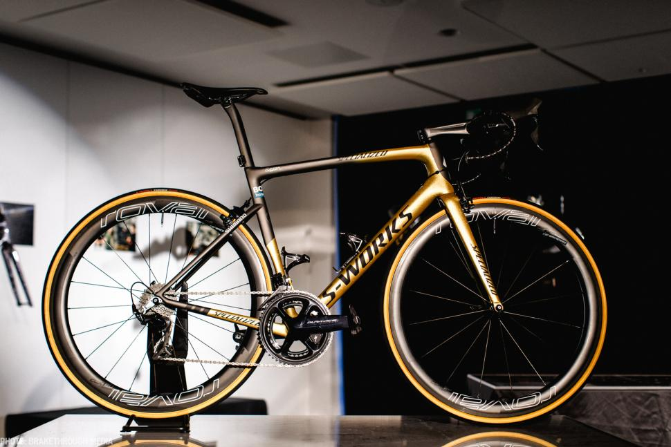 c325141927b Specialized launch Peter Sagan collection - gold bikes, shoes and helmets  for triple world champion