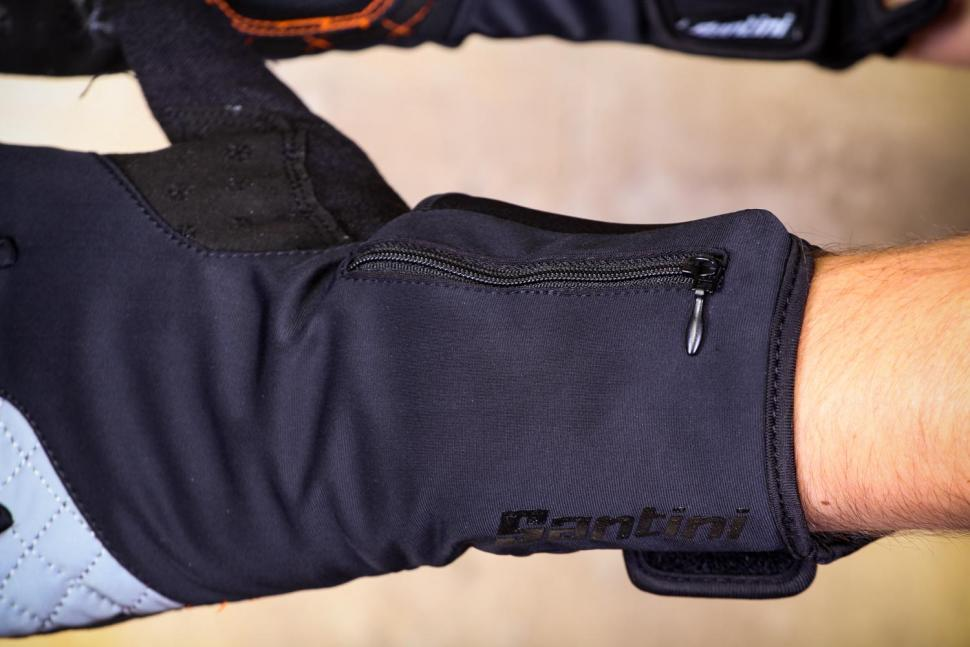 Santini 365 Win Fiord Long Finger Glove - cuff pocket.jpg