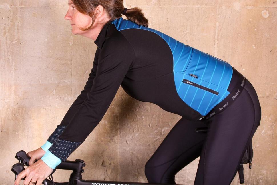 Santini Coral Jacket - riding.jpg