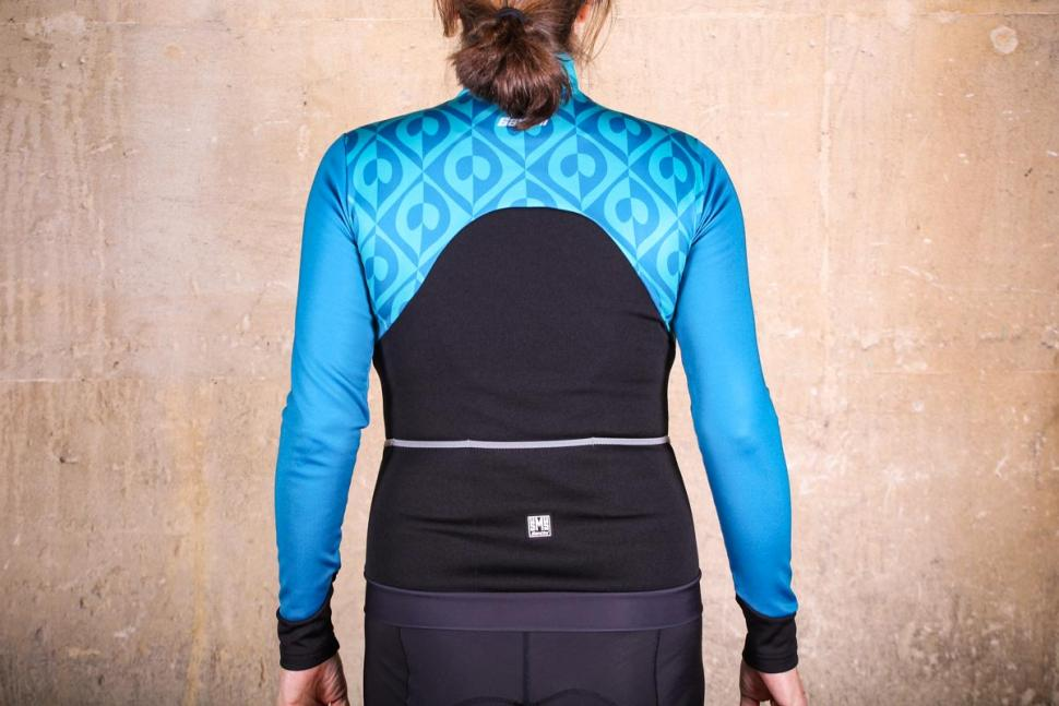 Santini Coral Thermal Jersey - back.jpg