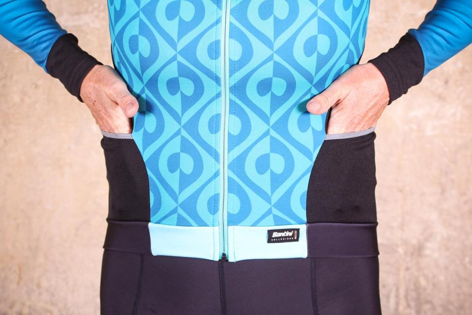 Santini Coral Thermal Jersey - pockets.jpg