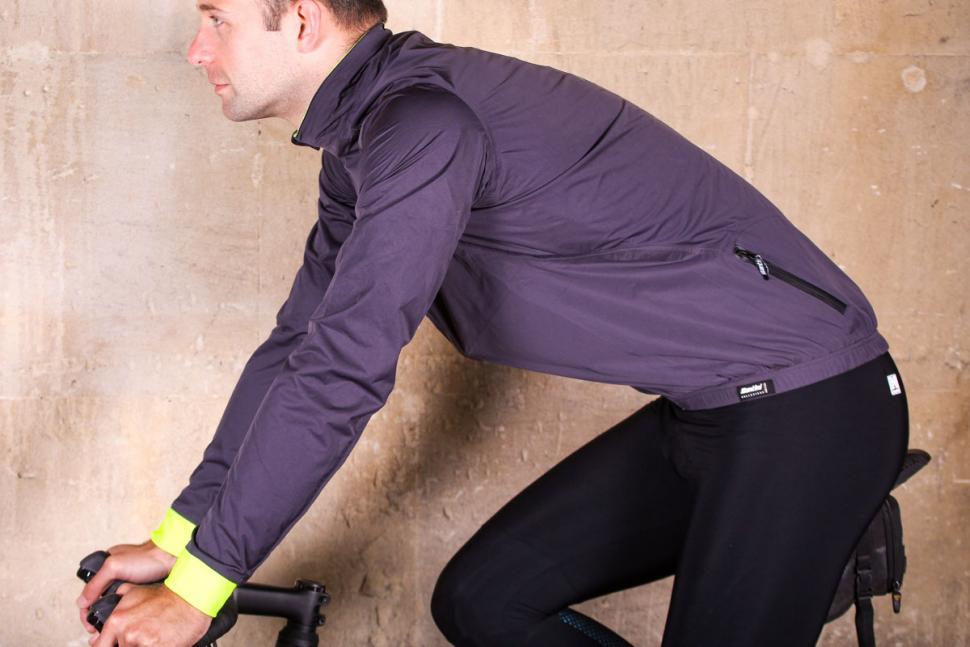 Santini Guard Rain Jacket - riding.jpg
