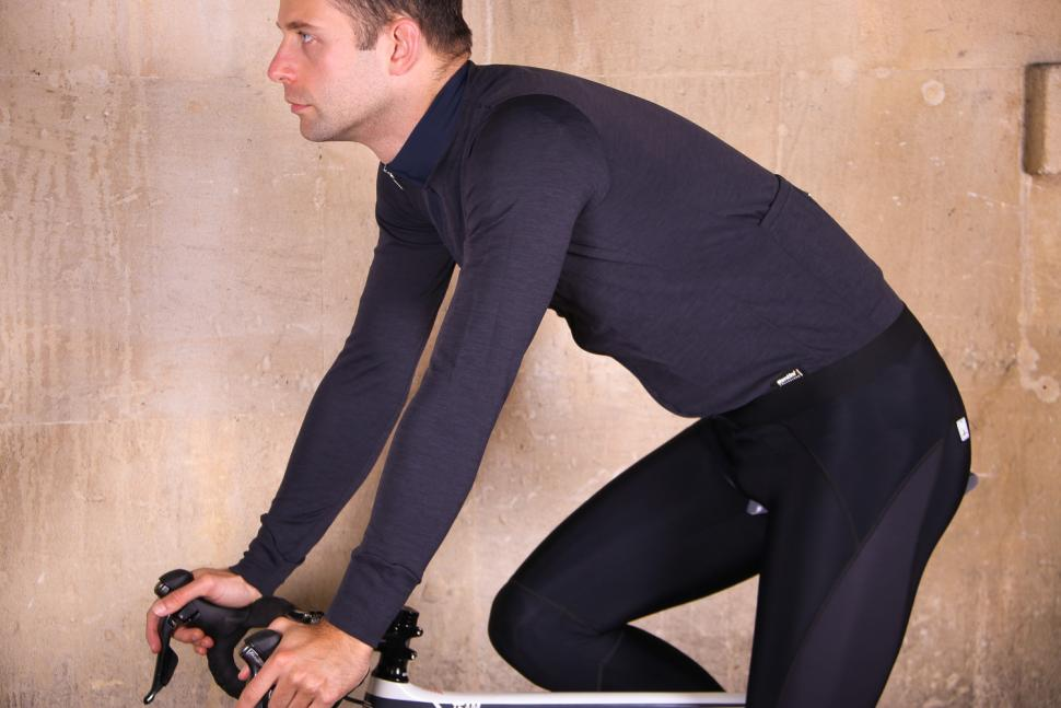 Santini Origine Winter Long Sleeve Jersey - riding.jpg