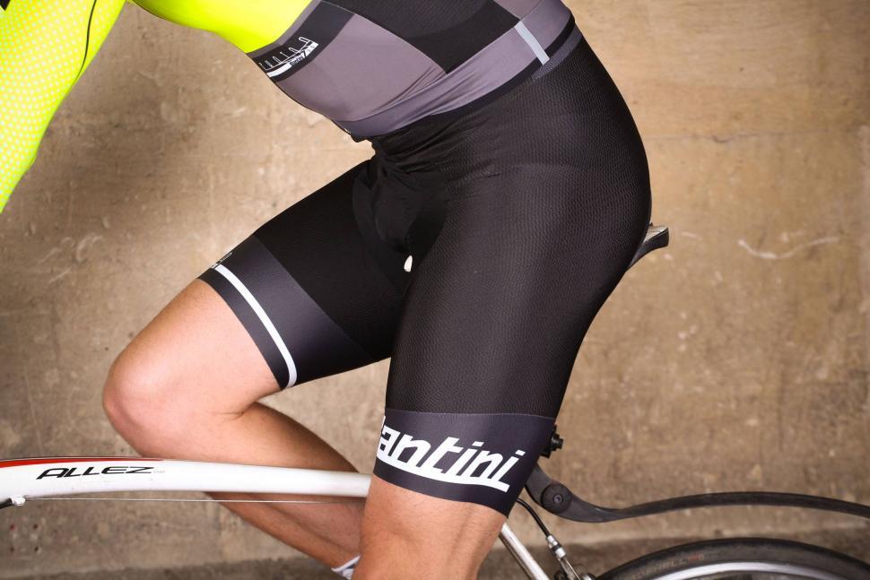 Santini Photon 2 Bib Short C3 Pad - riding.jpg