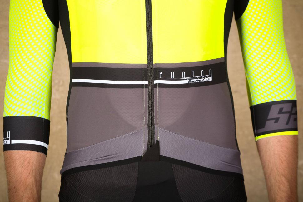 Santini Photon 3.0 jersey with 3-4 Sleeves - hem.jpg