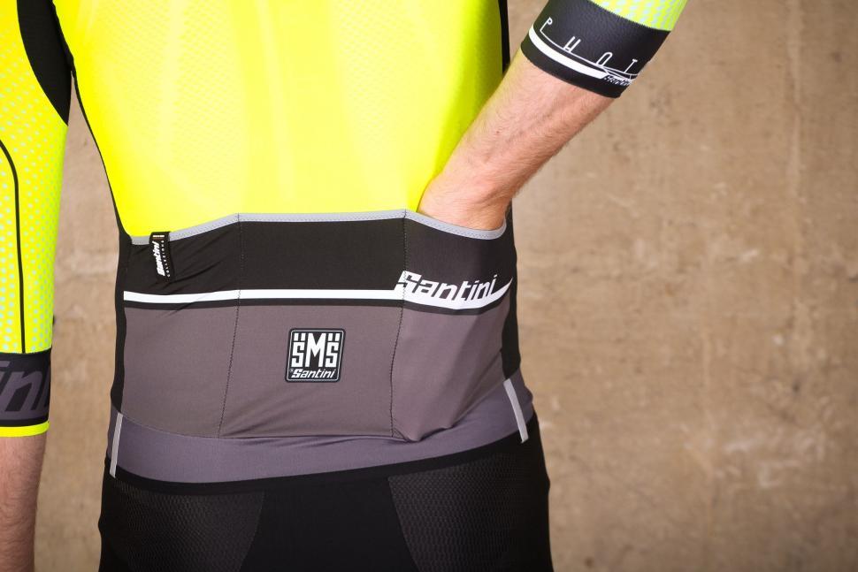 Santini Photon 3.0 jersey with 3-4 Sleeves - pockets.jpg