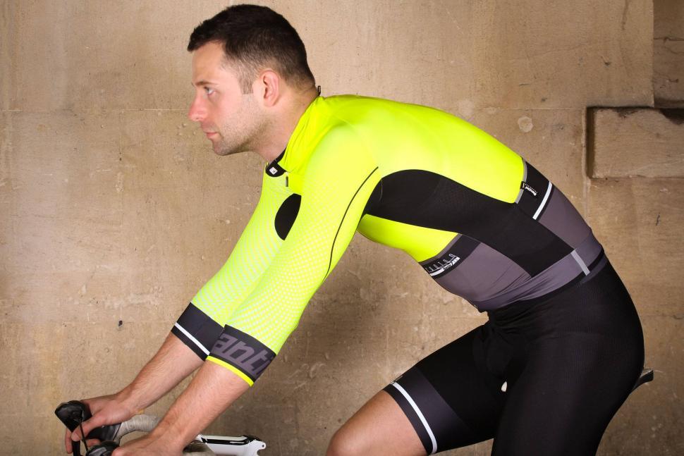 Santini Photon 3.0 jersey with 3-4 Sleeves - riding.jpg