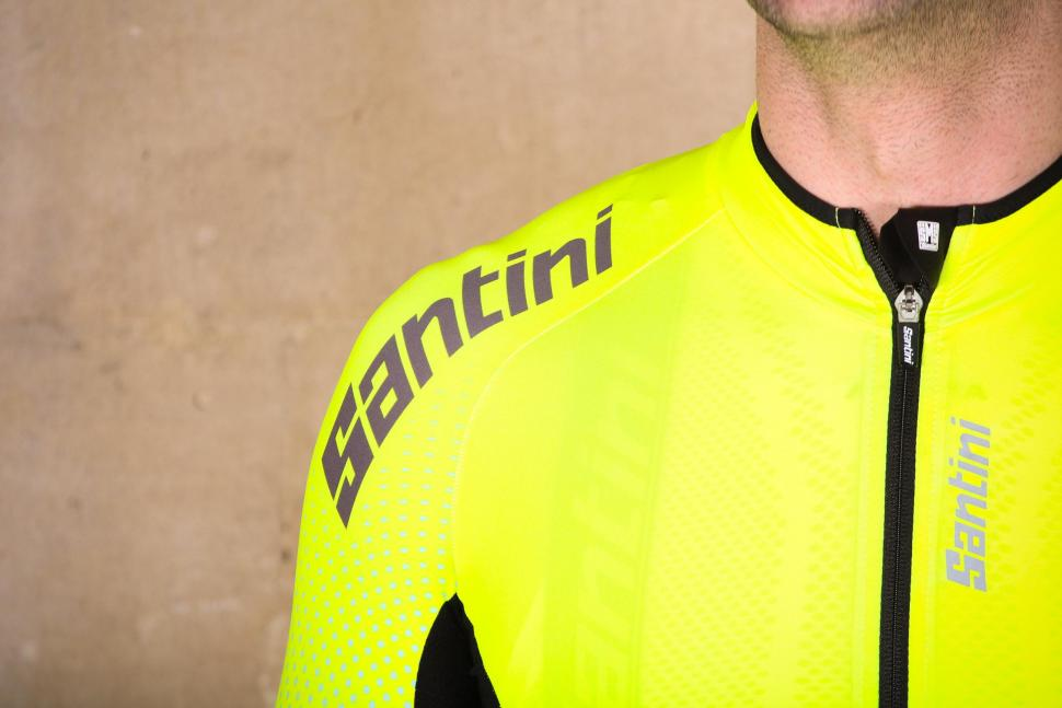 Santini Photon 3.0 jersey with 3-4 Sleeves - shoulder.jpg