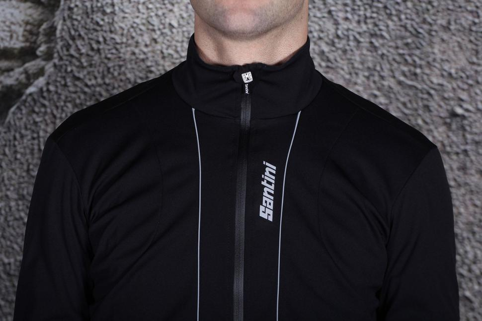 Santini Reef Race Cut Rain Jersey - chest.jpg