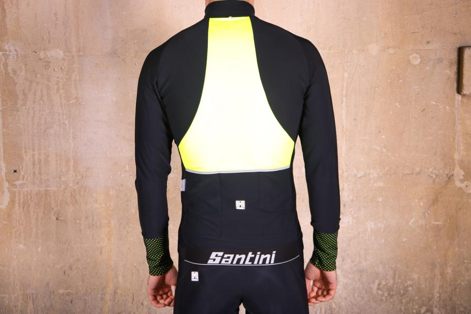 Santini Vega 2.0 Aquazero Long Sleeve Thermofleece Jersey - back.jpg