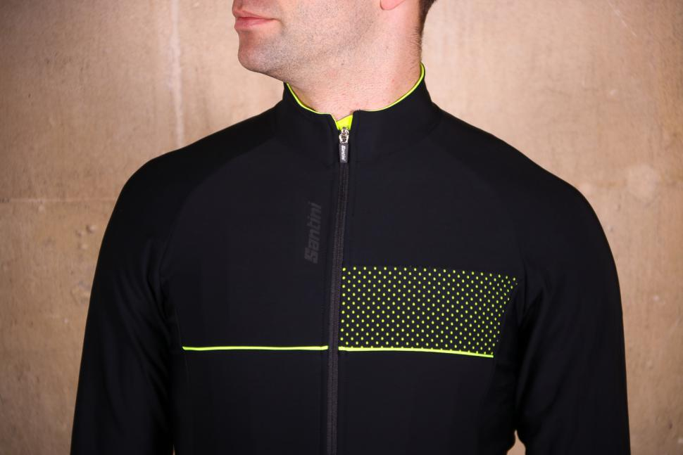 Santini Vega 2.0 Aquazero Long Sleeve Thermofleece Jersey - chest.jpg