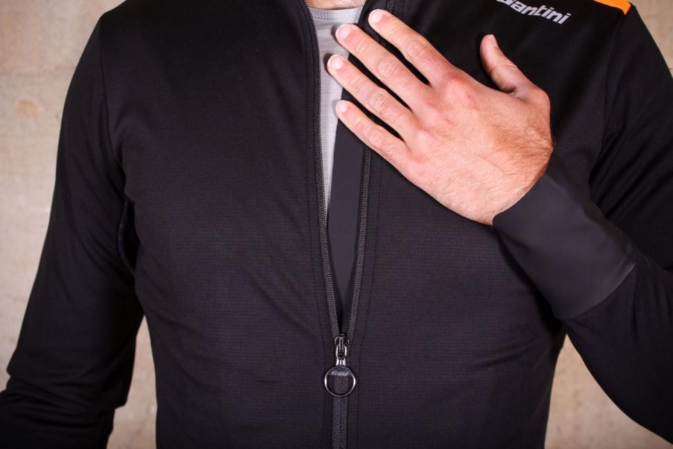 Santini Vega Xtreme jacket - wind flap.jpg