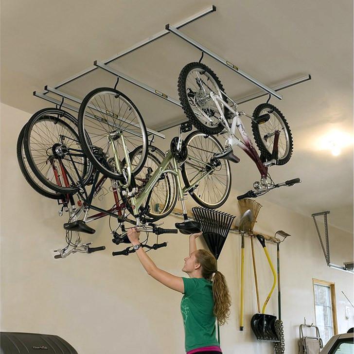 5 Bike Stand Floor or Wall Mounted Bike Storage Shed Garage Tidy