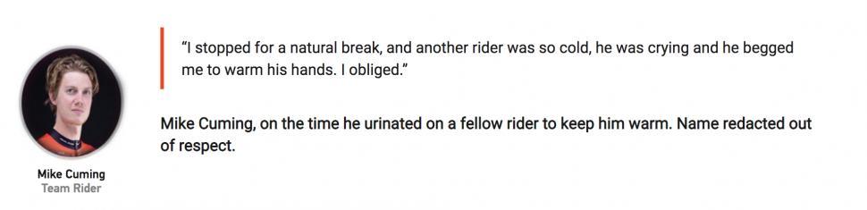 Rider toilet quote
