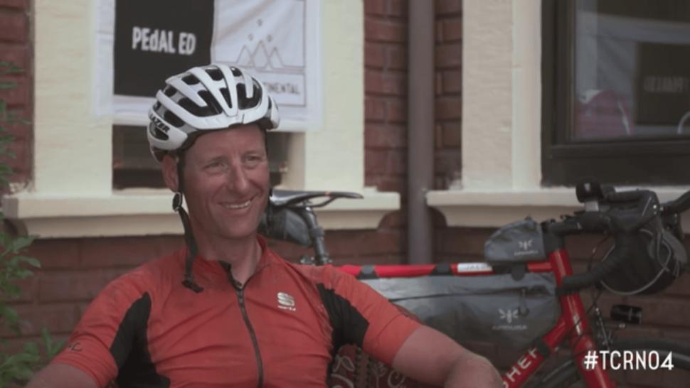 Kristof Allegaert (still from Transcontinental Race interview)