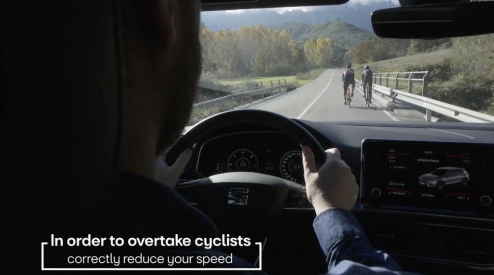 Seat Terraco cyclist detection vid still 2