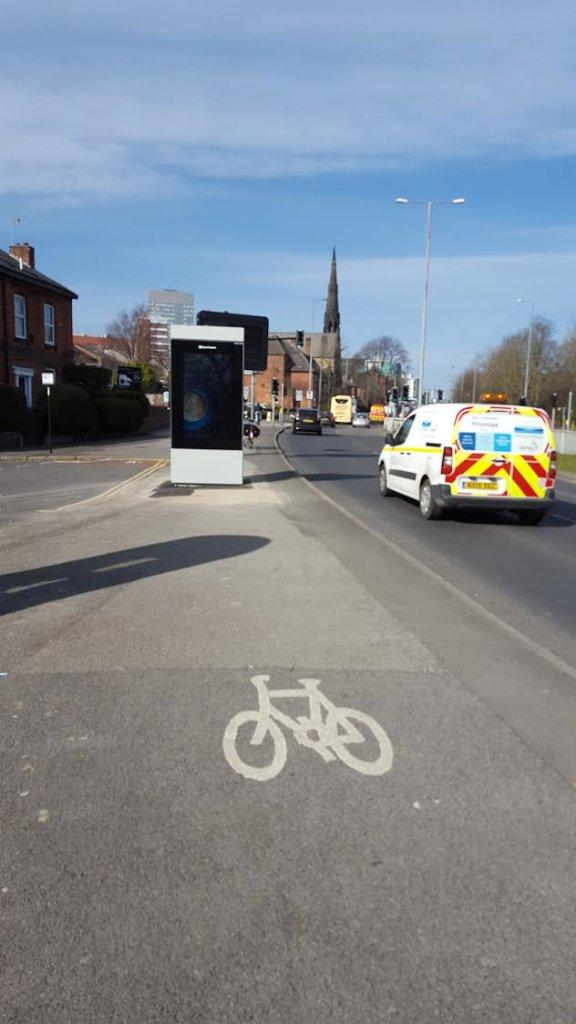 Sheffield bike lane billboard (image credit: Matt Turner)