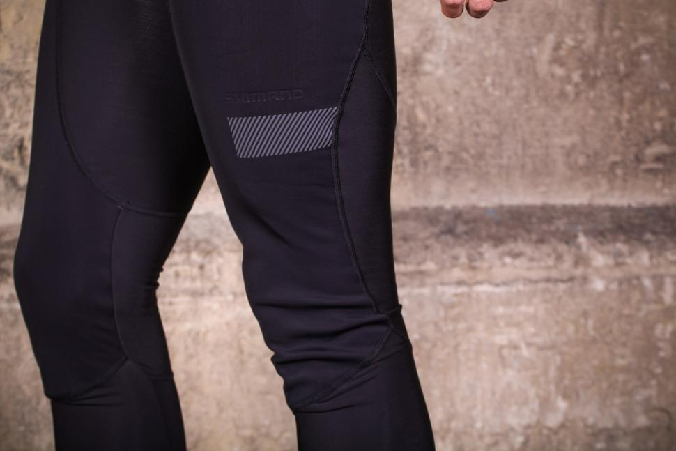 Shimano Evolve Wind Bib Tights - knee detail.jpg