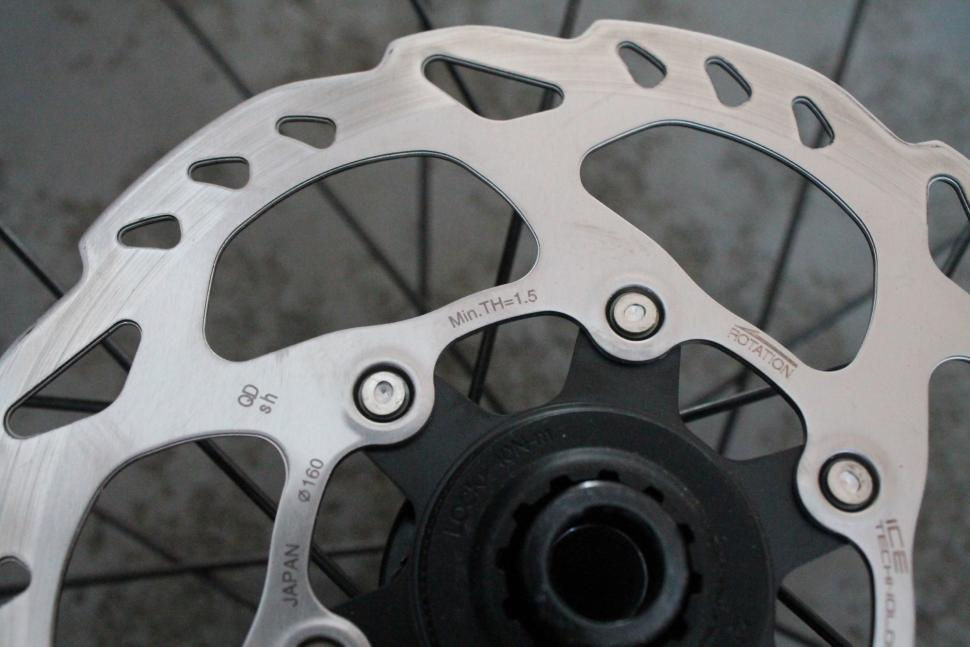 Shimano rotor minimum thickness marking - 1