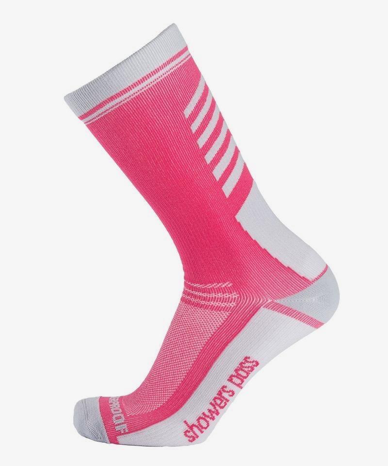 Showers Pass Crosspoint Lightweigt Waterproof Socks Pink (1)