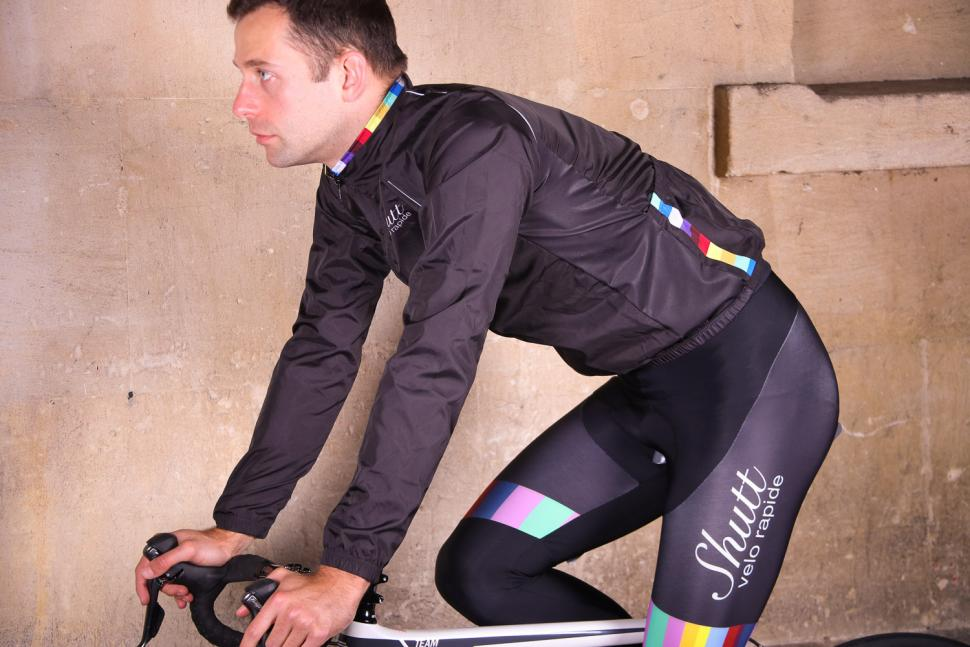 Shutt Velo Rapide Showerproof Jacket - riding.jpg