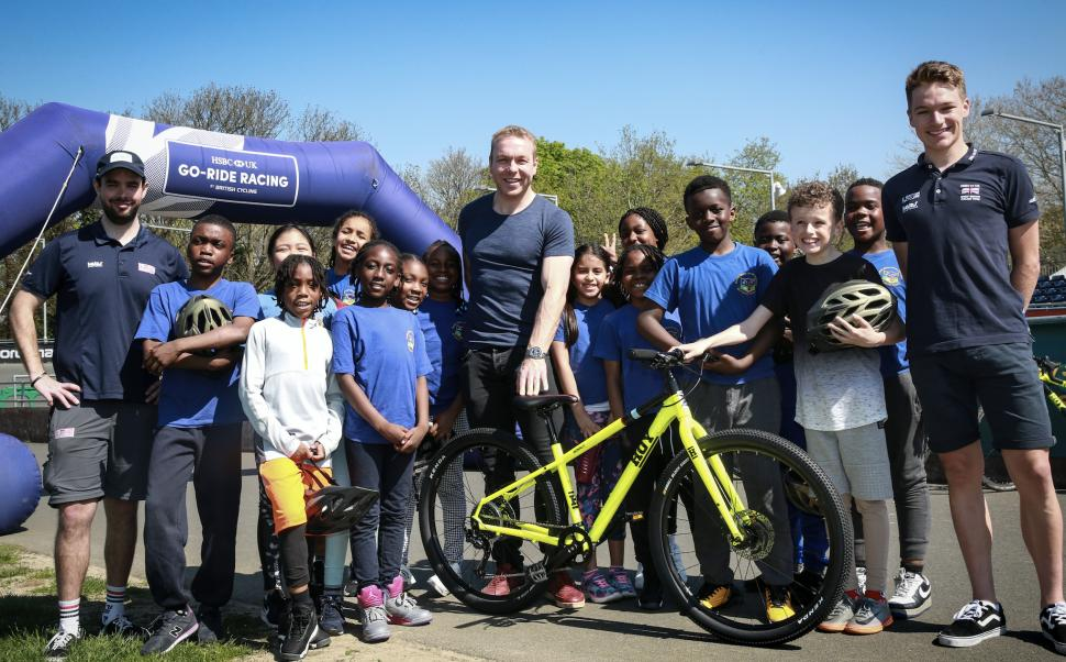Sir Chris Hoy British Cycling HSBC Go Ride event at Herne Hill Velodrome (credit Evans Cycles).png