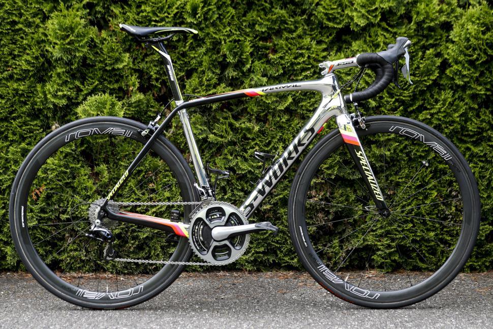 aa4d07de49 Pro Bike  Alberto Contador s chrome Specialized S-Works Tarmac race bike