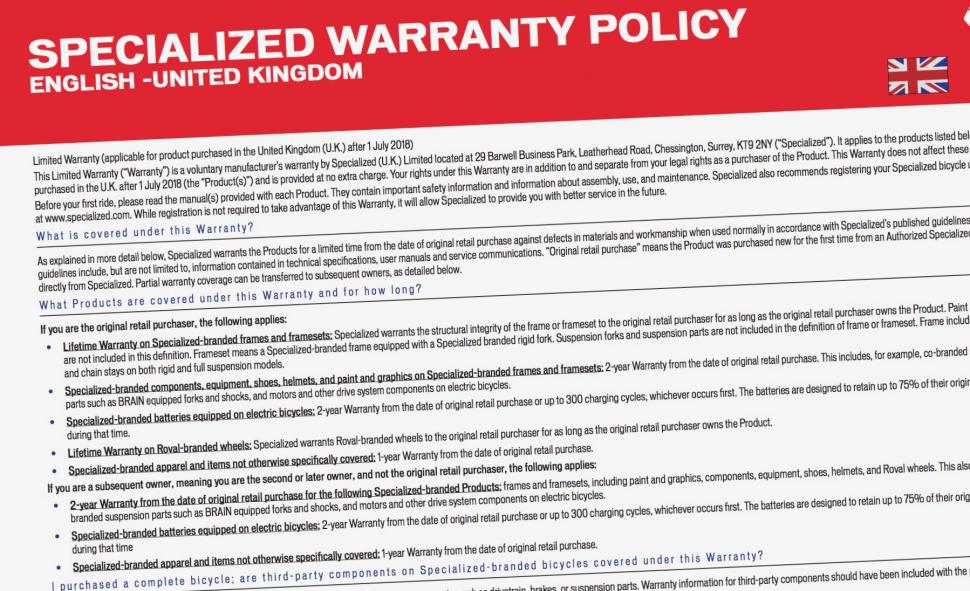 Specialized warranty  - 1 (1)