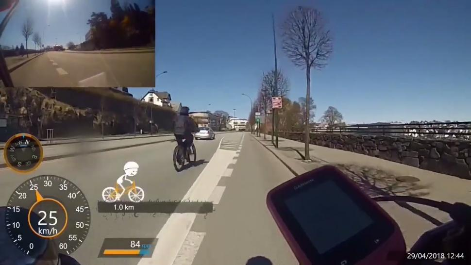 Live blog: e-bike rider shoots past cyclist at frightening