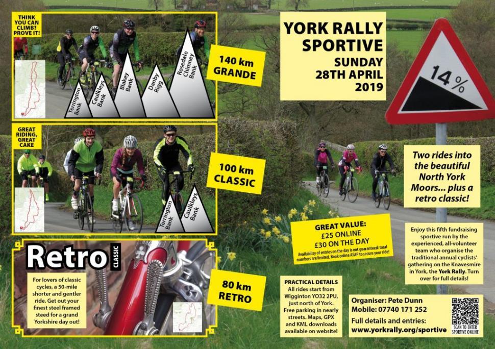 York Rally Sportive & Retro 2019 poster