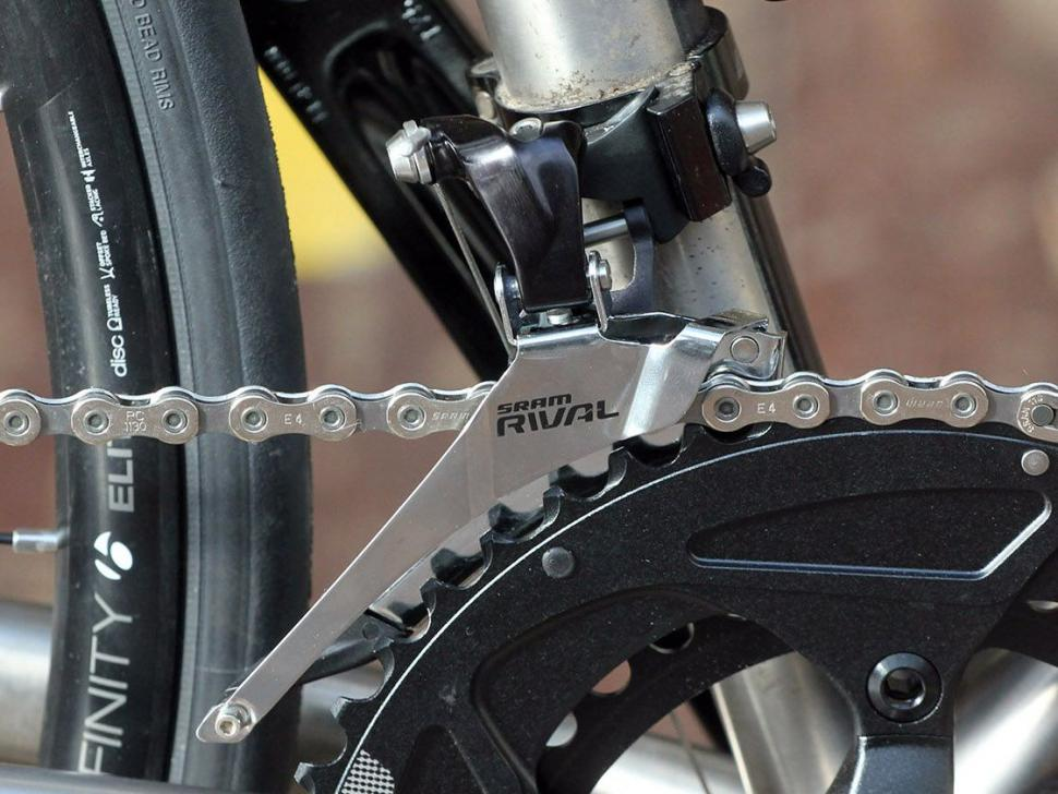 SRAM Rival 22 Hydro groupset - front mech on bike.jpg
