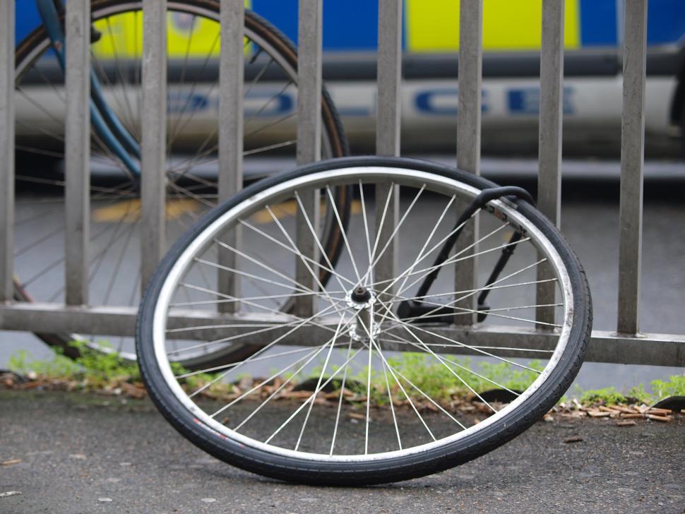 Stolen bike wheel.JPG