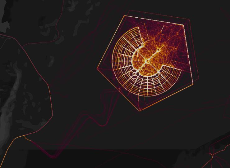 Strava Global Heat Map Six arresting   and strange   images from Strava Global Heatmap